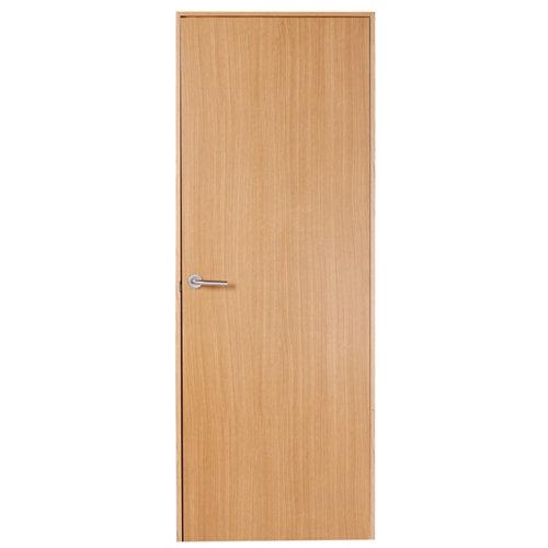 Puerta mallorca roble de apertura derecha de 82.5 cm