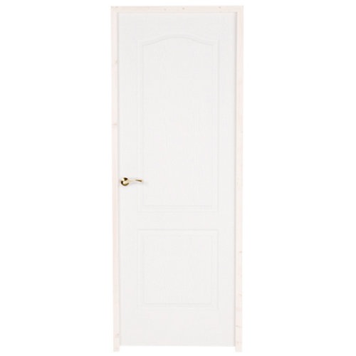 puerta prepintada provenzal blanco de apertura derecha de 82.5 cm