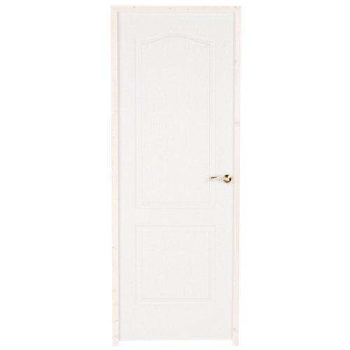 puerta prepintada provenzal blanco de apertura izquierda de 82.5 cm