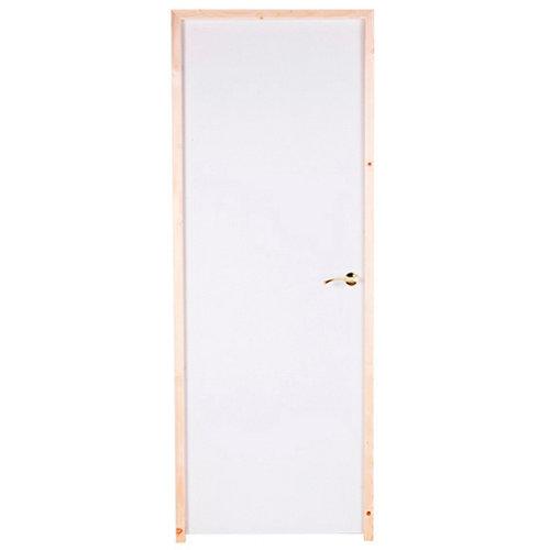 puerta prepintada lisa blanco de apertura izquierda de 72.5 cm