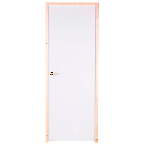puerta prepintada lisa blanco de apertura derecha de 72.5 cm