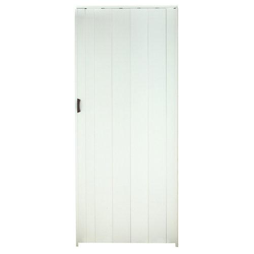 Puerta plegable de pvc blanco 84 x 205.0 cm