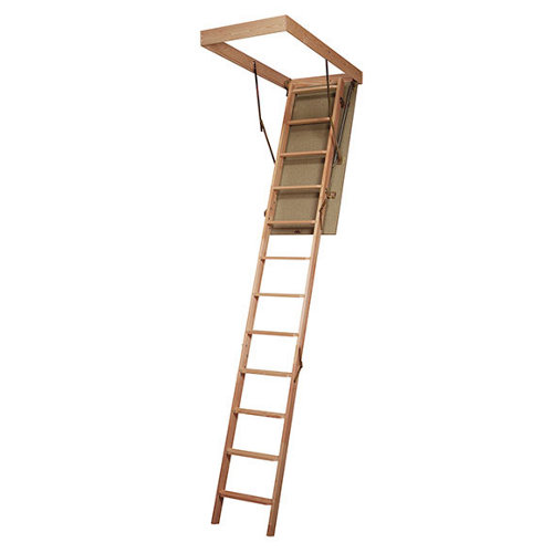 Escalera escamoteable plegable loft2 madera crudo medida cajon pino 120x60cm