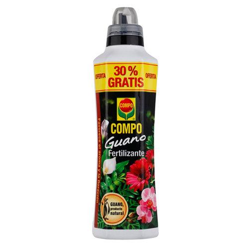 Fertilizante con guano compo para todo tipo de plantas interior y terraza 1,3l