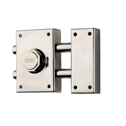 Cerrojo de seguridad botón/llave de 60 mm ancho cromado