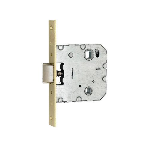 Cerradura empotrar latonado de 47.5 mm de entrada