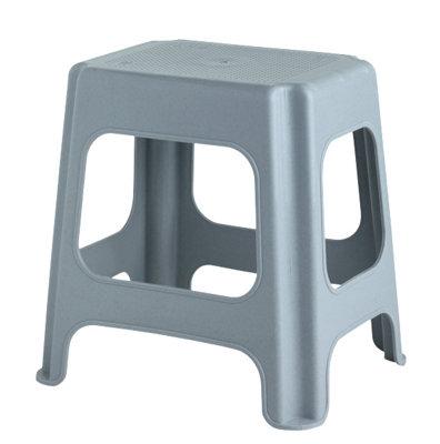 Taburete de plástico para 100 kg de carga y 42 cm de alto