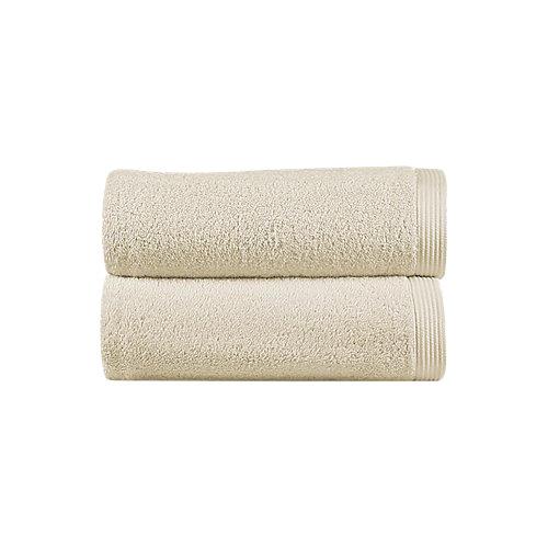 Toalla de algodón beige 50 x 100 cm