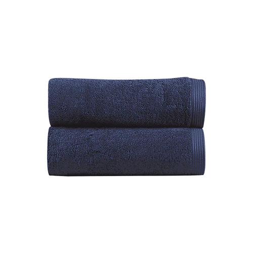 Toalla de algodón azul 30 x 50 cm