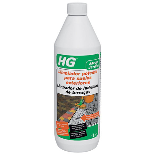 Limpiador potente para suelos exteriores hg de 1l