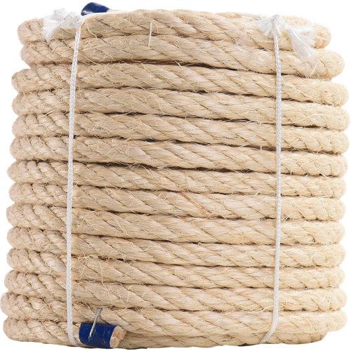 Cuerda cableada de sisal de 25 m y carga max. 622 kg