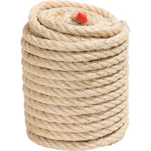 Cuerda cableada de sisal de 25 m y carga max. 1260 kg