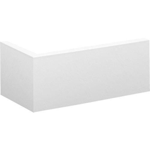 Cubrezócalo en l mdf blanco 12x244x3 cm