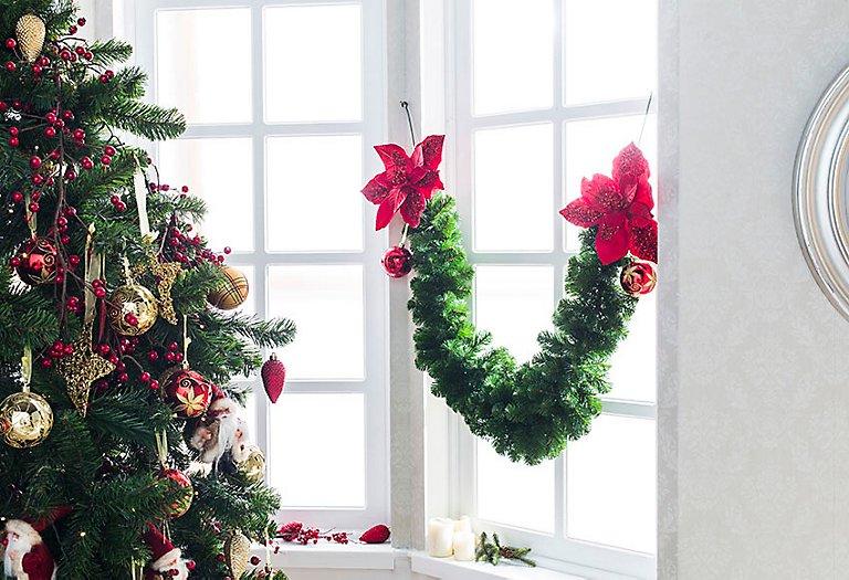 Guirnaldas De Navidad Imagenes.Guirnaldas Y Espumillones Leroy Merlin