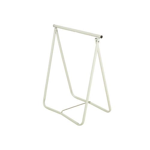 Caballete de acero blanco y altura de 76 cm