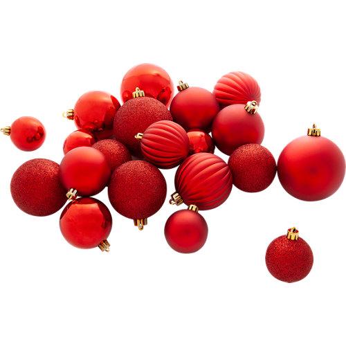 Set 34 bolas de navidad rojo