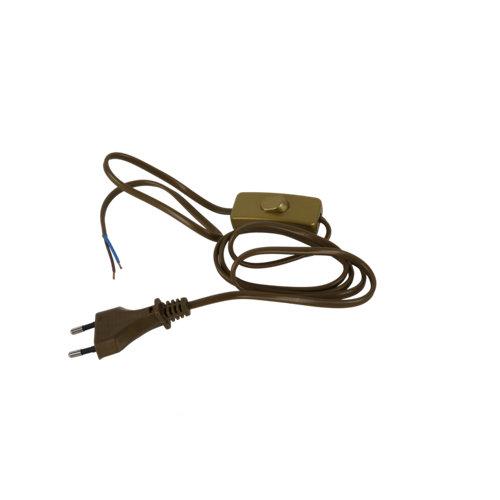 Interruptor de paso electraline con cable oro