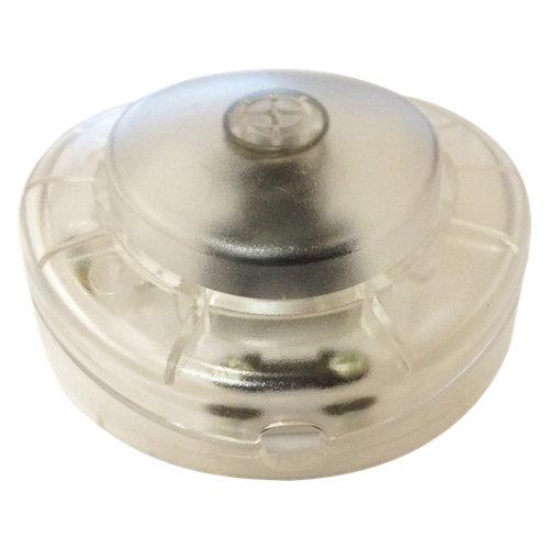 Interruptor de pie electraline transparente de 2a