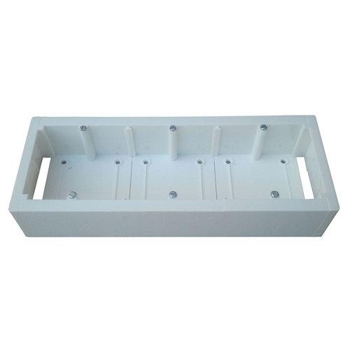 Caja de mecanismos universal para 3 elementos 230x85 mm