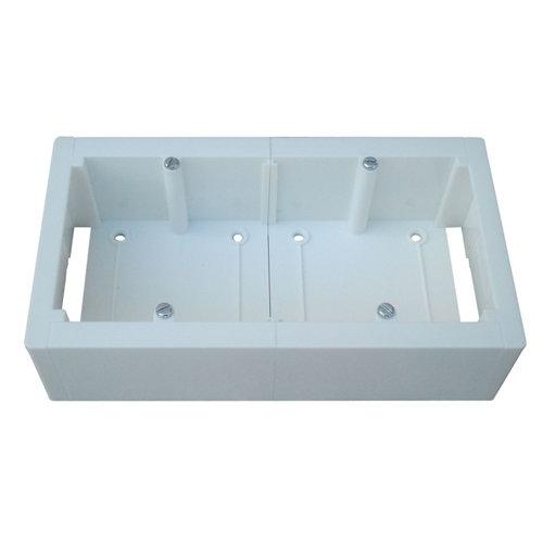 Caja de mecanismos universal para 2 elementos 160x85 mm