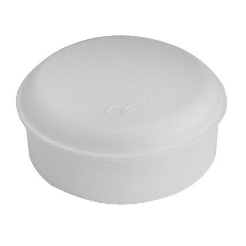 Caja de registro redonda blanca 40x85 mm