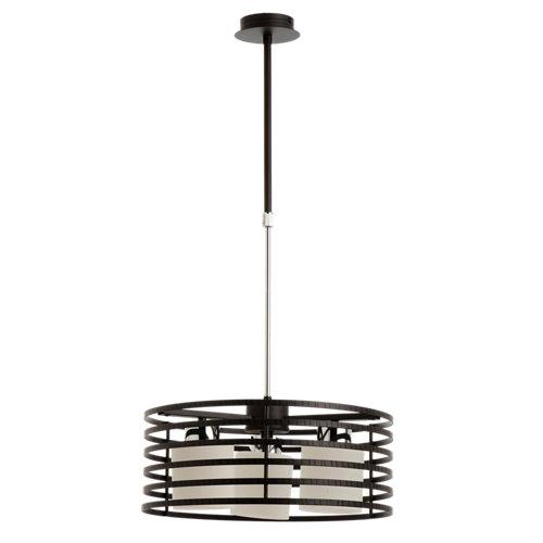 Lámpara de techo cell marrón 3 luces