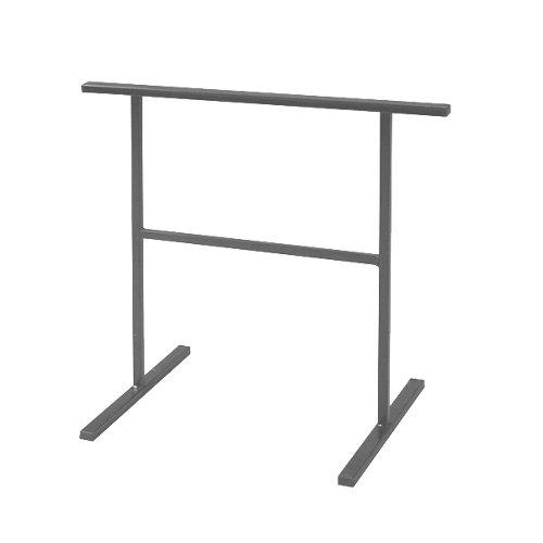 Caballete de acero gris y altura de 75 cm