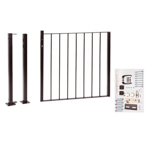 Kit puerta bricofen 116x93,5 cm negra