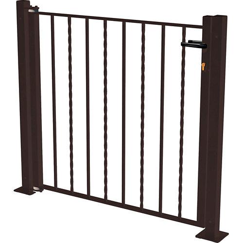 Kit puerta briconatura 116x93,5 cm negra