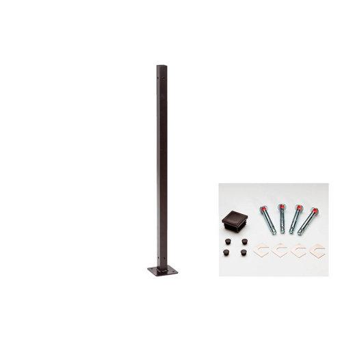 Poste atornillar 100x4x4cm apto para valla jardín 195x94 negro