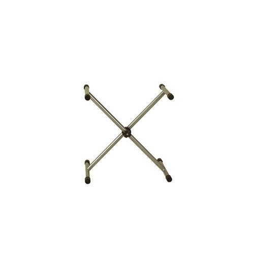 Caballete de acero gris regulable y altura de 107 cm