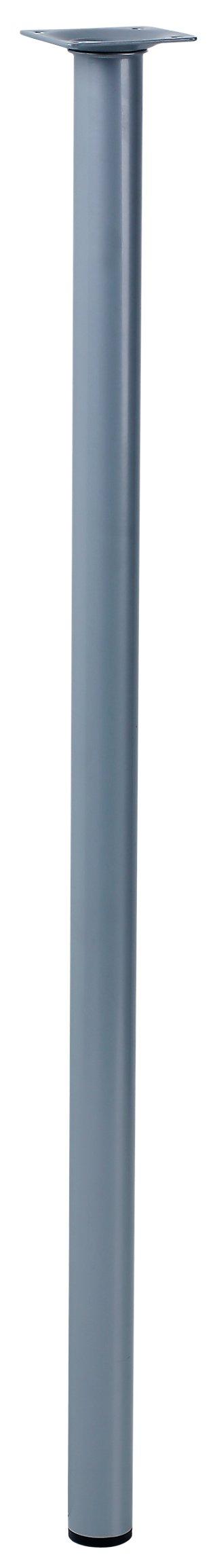 Pata fija de acero cromado mate 70 cm · LEROY MERLIN
