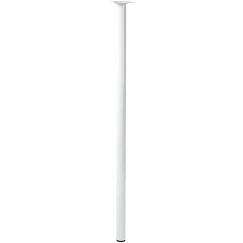 Pata fija de acero blanco 80 cm