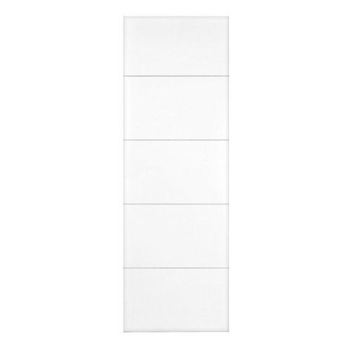 Puerta de interior corredera holanda blanco de 82.5 cm