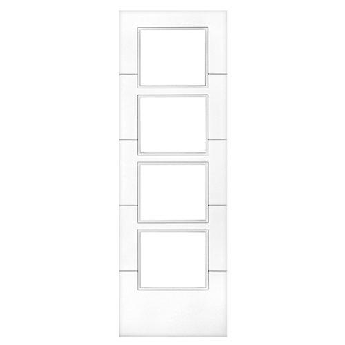 Puerta de interior corredera holanda blanco de 72.5 cm