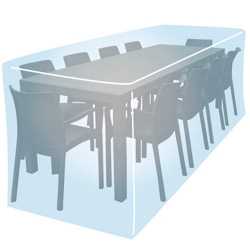 Funda de protección para mesa y sillas de poliéster 260x330x95 cm