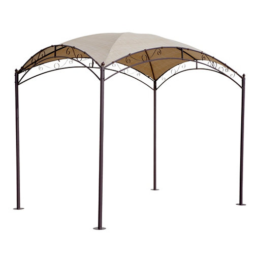Pérgola de acero ovalada marrón de 200x300 cm