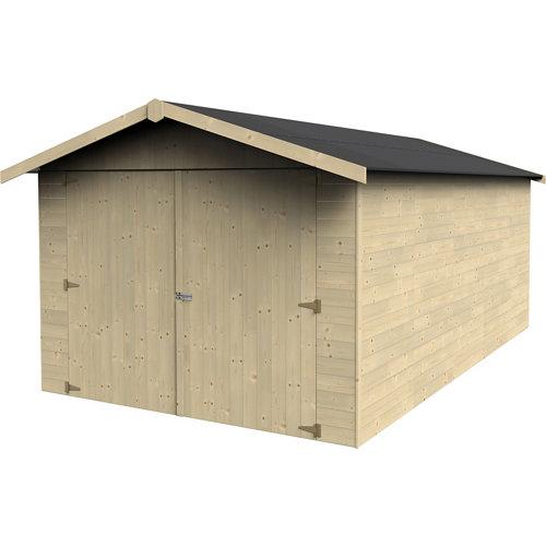 Garaje de madera garove para 1 coche (menos de 15 m²) de 303 x 221 x 492 cm