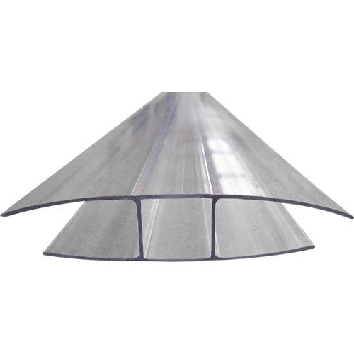 Perfil h policarbonato 2 m placas 4 mm