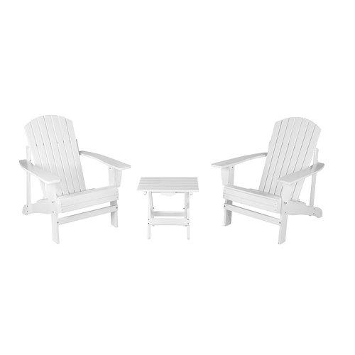 Conjunto de muebles de exterior california de acacia para 2 comensales