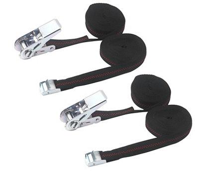 4 correas cuero negro roll hebilla 1,4 x 60,0 cm fijación correa ruedas colgadores u