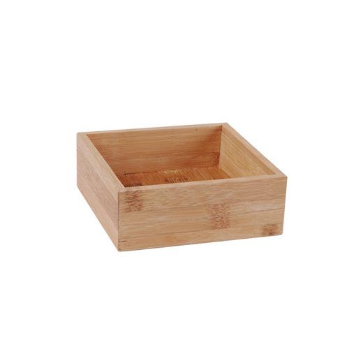 Cesto organizador bambú 15x15x5,5 cm