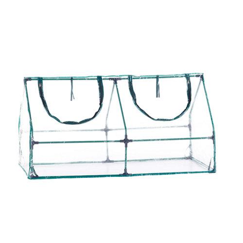 Mini invernadero de acero y pvc 120x60x60 cm