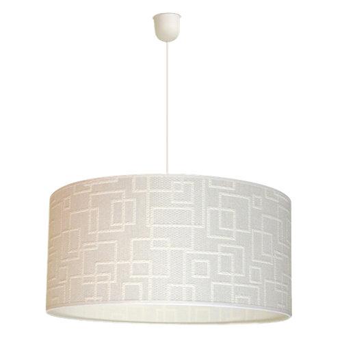 Lámpara de techo cuadros blanca 1 luz