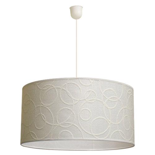 Lámpara de techo circulos blanca 1 luz