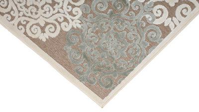 Alfombra color beige viscosa Scarpa 30001655590 160 x 230cm