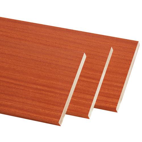 Pack de 3 molduras mdf sapelly 90 x 10 mm