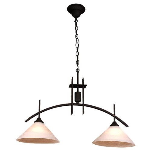 Lámpara de techo arcus negra 2 luces