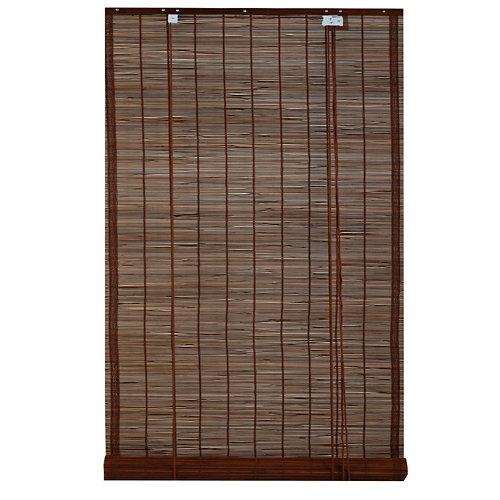 """""""Estor enrollable fabricado en bambú en color marrón. Incluye accesorios de instalación. Medidas 150 x 230 cm (ancho x alto)."""