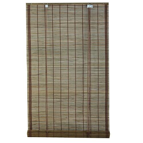 Estor enrollable de bambú gris inspire de 90x230cm
